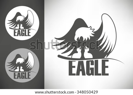 logo with bald eagle with