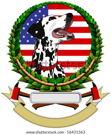 logo with Dalmatians
