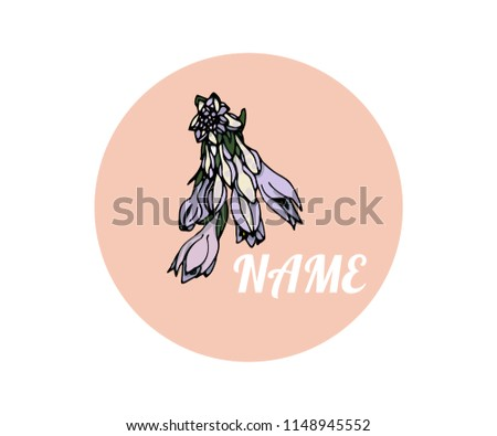 logo with flower hosts on a