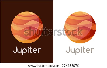 logo with jupiter planet