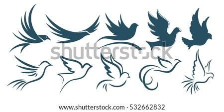 logos birds