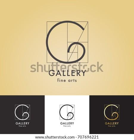 logos gallery fine arts set Stok fotoğraf ©