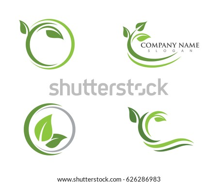 logos of green leaf ecology