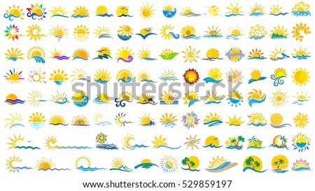 logos sun and sea