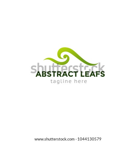 Logotype abstract leafs and wave, logo vector for logistic, delivery, company, business, shop