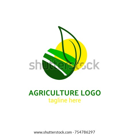 Logotype agriculture for plantation, farm, plants, cultivation, eco, ecological goods, crop, health, label. Logo vector illustration