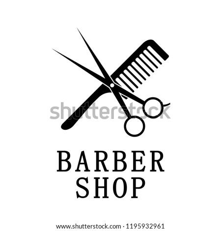 Logotype barber shop. Vector illustrations