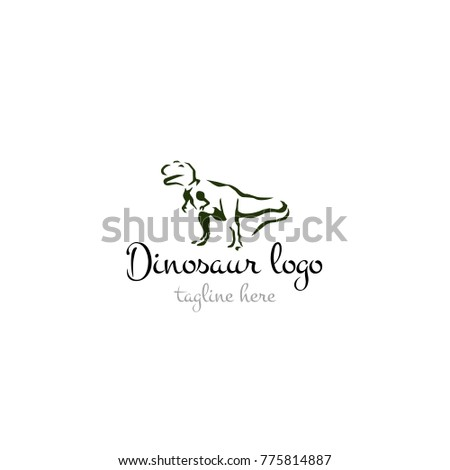 Logotype Dinosaur Logo Vector Shop Store Products Toys Ez Canvas