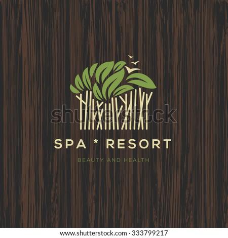 Logotype for spa resort or beauty business, logo design, vector illustration.