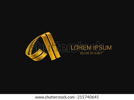 Logotype in the form of the letter A Abstract stylized business logo idea Vector illustration Eps 10