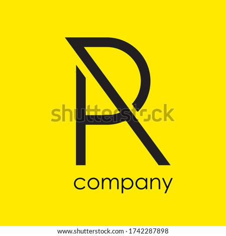 logotype letter A and R design concept Stock fotó ©