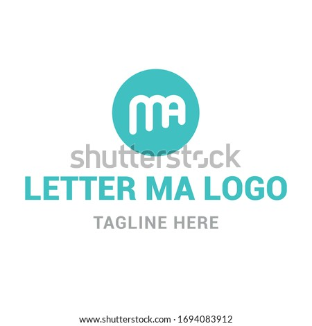 Logotype letter MA, logo for company, shop, store, lawyer, security, vector Zdjęcia stock ©