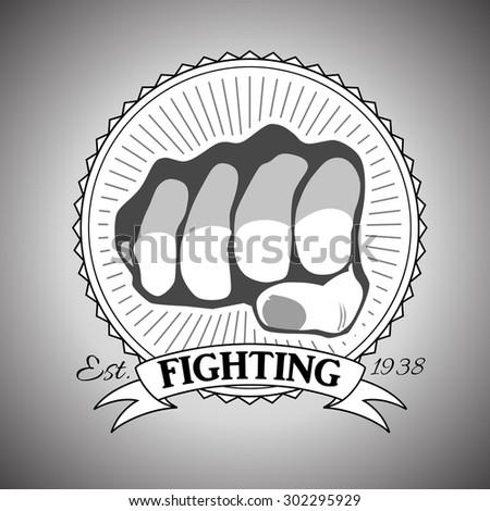 logotype of fight club black