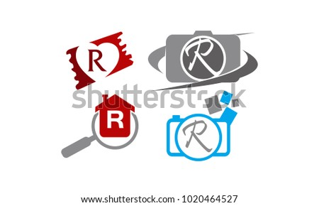 Logotype R Modern Template Set