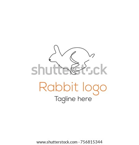 logotype rabbit template character for store toys shop magazines