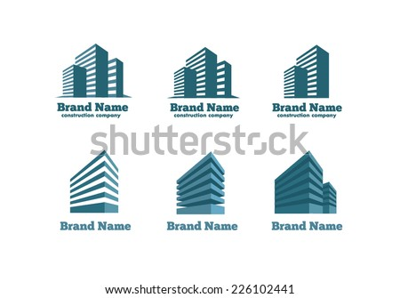 Logotype skyscrapers construction