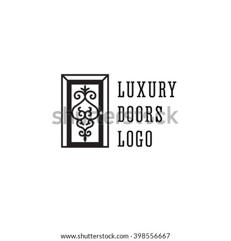 logotype with beautiful door