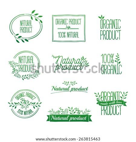 logotypes set badges  labels