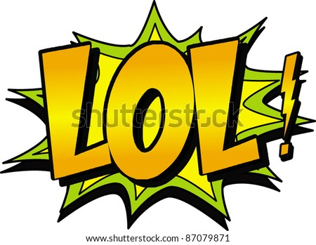 lol - stock vector