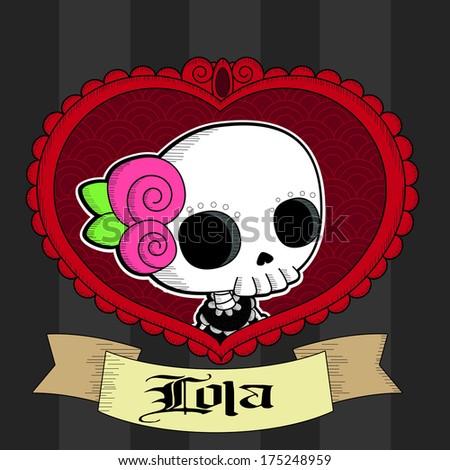 lola grim valentines cute