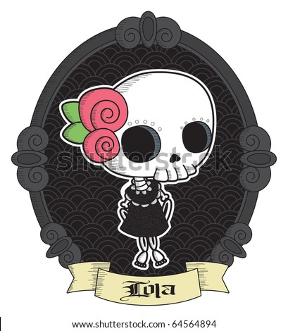 Lola Little http://www.shutterstock.com/pic-64564894/stock-vector-lola-little-lady-grimm-cool-gothic-vector-style-graphic-elements.html