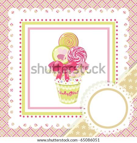 Lollipop bouquet on frame