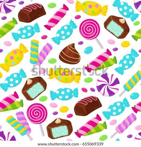 lollipop caramel candy seamless