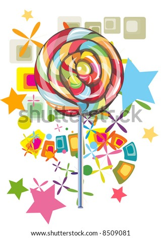 lollipop with abstract background