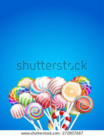 lollipops  candys and sweets