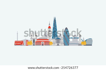 London abstract skyline