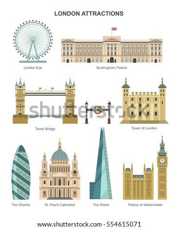london architecture vector