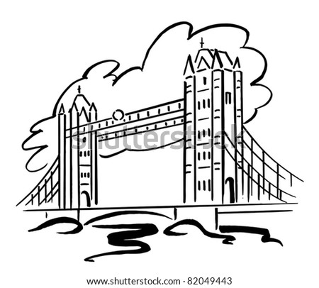 london bridge drawing for kids Bridge Drawing For Kids