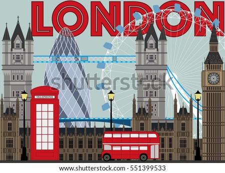 london city illustrtion for