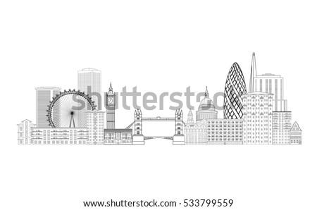 london city sketch skyline