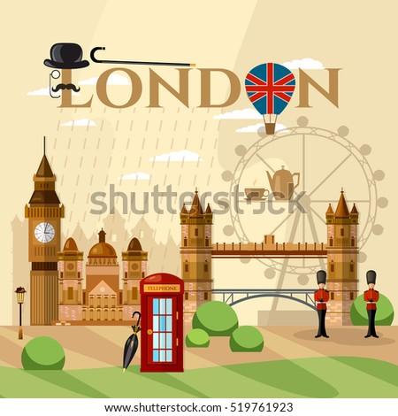 london city skyline  london