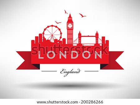 london city skyline with