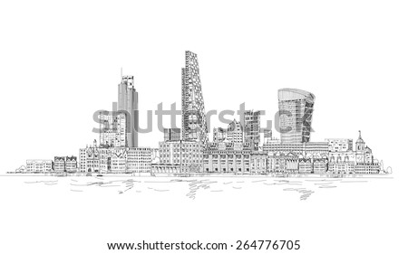 london  city view from the