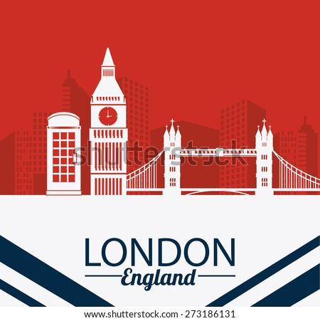 london design over red