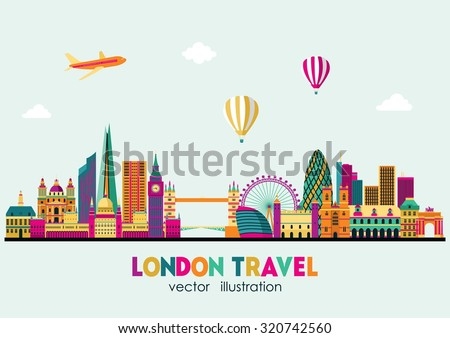 london detailed skyline vector