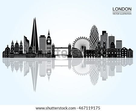 London detailed skyline. Vector illustration