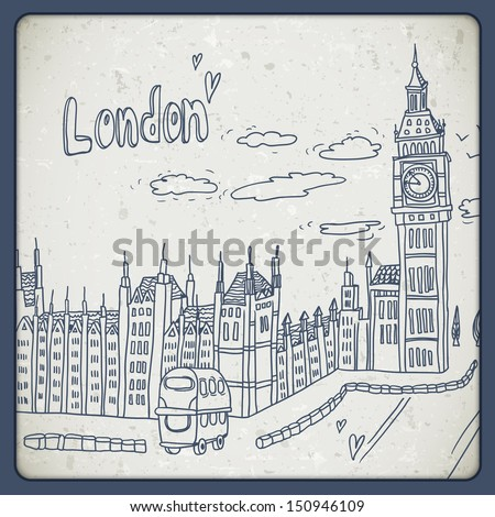 london doodles drawing