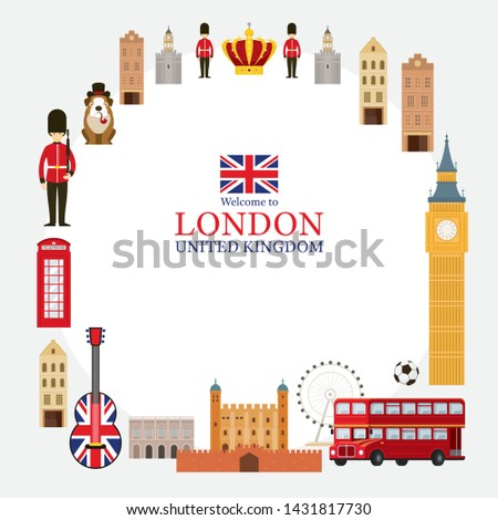 London, England and United Kingdom Tourist Attractions Frame, Famous Place, Travel Destinations and Objects