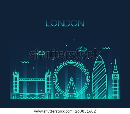 london  england  city skyline