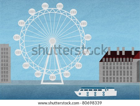 London eye - stock vector