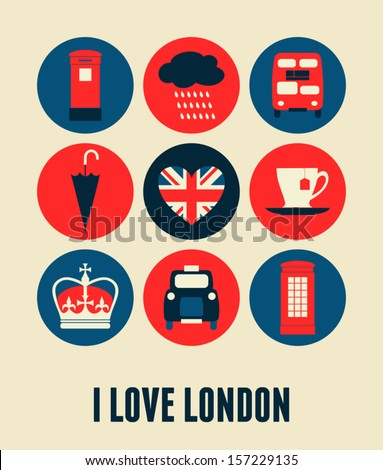 London greeting card design.