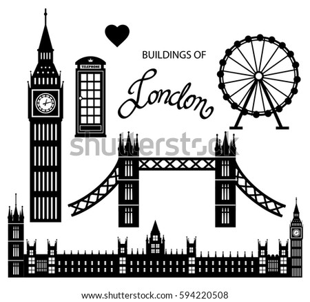 london icon set collection