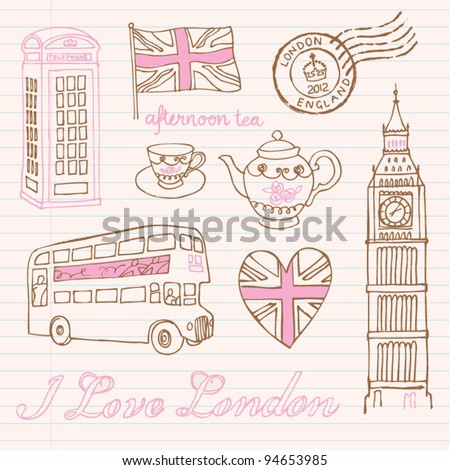 London icons doodles