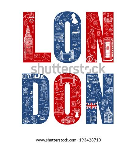 london illustration card   hand