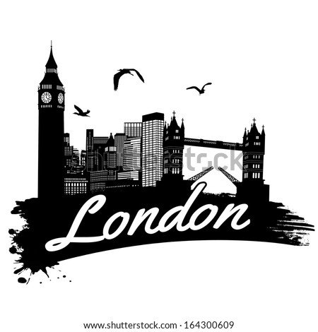 london in vintage style poster