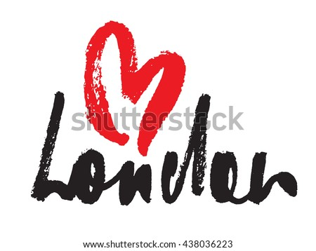 london inscription with heart